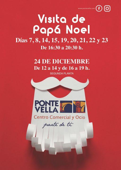 Visita de Papá Noel a Ponte Vella