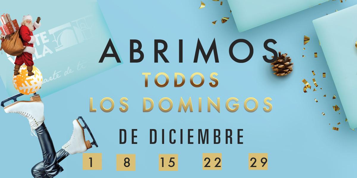 Abrimos los Domingos de diciembre